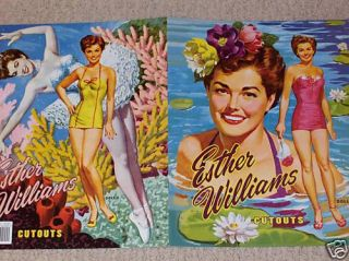 Gorgeous ESTHER WILLIAMS Paper Doll Book from PSP