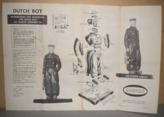 Vintage Aurora Dutch Boy Model Kit Instructions 1957 1