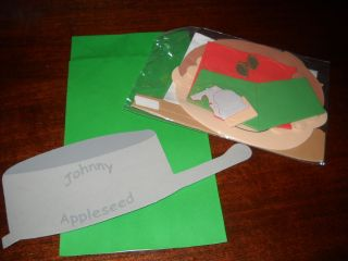 Homeschool Elementary 1st 3rd Johnny Appleseed Paper Bag Puppet Craft Kit