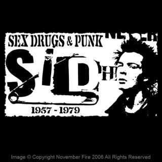 Sid Shirt Sid Vicious Sex Pistols Sex Drugs and Punk