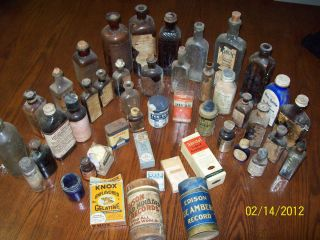 Antique Medicine Bottle Pharmacist Lot Eli Lilly John Wyeth Smart Weed Morphine