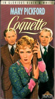 Coquette Mary Pickford Johnny Mack Brown VHS VG Cond 027616215833