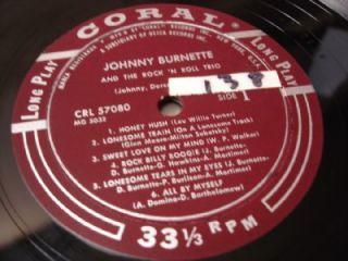 Rockabilly Johnny Burnette Rock Roll Trio Coral 57080 Clean Vinyl DG 1st Press