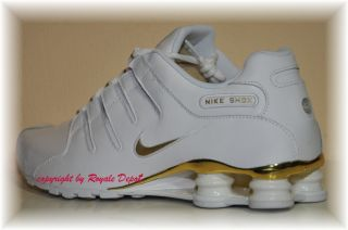 Nike Shox NZ 378341 133 White Weiß Gold GR 41 42 43 44 45 46 47 48 49 50