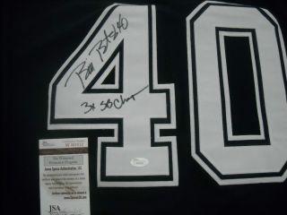 Bill Bates Dallas Cowboys Signed Blue Jersey JSA COA Autograph