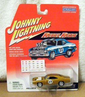 JL WL JOHNNY WHITE LIGHTNING REBEL RODS R3 1970 DODGE CHARGER R T