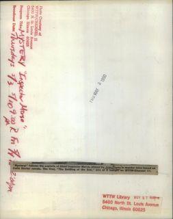 1990 Press Phoo Acor John haw Characer Inspecor Morse PBS Mysery Series |