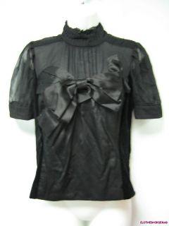 Jon Velvet Silk Bow Shirt Size 6 $308