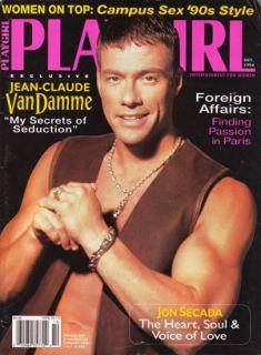 Playgirl October 1994 Jean Claude Van Damme Jon Secada International Male Nude