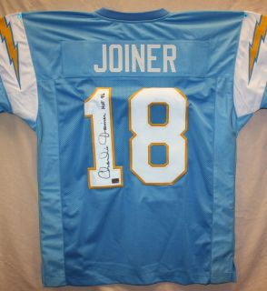 Charlie Joiner Autographed San Diego Chargers Blue Jersey Authenticated AAA