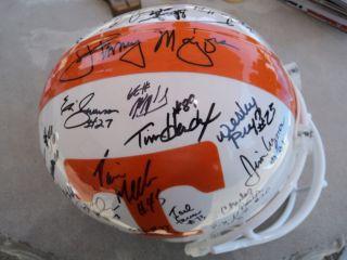 1985 86 Tennessee Vols Johnny Majors Signed Team Helmet Sugar Vols DVD COA