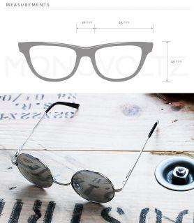 Lennon Style Sunglasses Round Hippie Shades Retro Mirror Lens Silver 0107