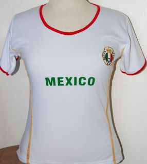 WOMEN MEXICO SOCCER JERSEY TSHIRT WOMAN WHITE SIZE MEDIUM NEW BRAND SBYL