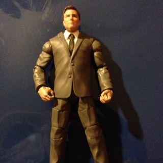 Custom WWE Mattel John Laurinaitis BAF Big Johnny Ace BOPPV Elite HTF RARE