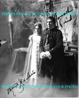 Dark Shadows Cast Kathryn Leigh Scott and Jonathan Frid Autographed RP Photo