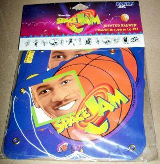 Looney Tunes Space Jam Michael Jordan Party Supplies 6 Jointed Banner MIP
