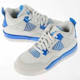 Air Jordan 4 KIDS PS Retro Military Blue 2012 Shoes 308499 105