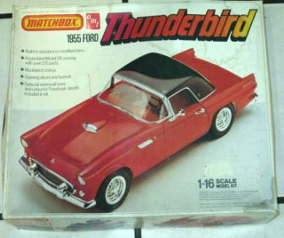 Vintage AMT '55 Ford Thunderbird Hardtop Convertible 1 16 Scale Model Kit