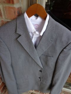 Joseph A Bank Gray 2 Btn Mens Wool Blazer Jacket Sport Suit Coat 44L Long Tall