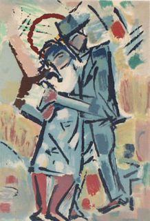 """Juan Del Prete Latin American """"Tango"""" Lithograph"""