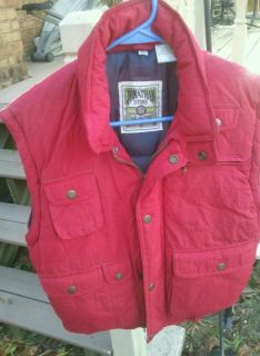 BOYS JONATHAN STONE RED SKI VEST SZ MEDIUM 10 12 EUC