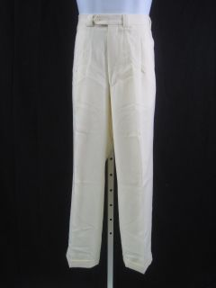 Joseph Abboud Mens Cream Dress Pants Slacks Size 34