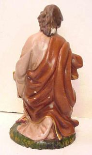 NATIVITY LARGE Composition or Paper Mache Mary 9 Joseph 9 Baby Jesus JAPAN