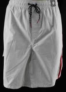 Tommy Hilfiger New Mens White Swimwear Trunks Board Shorts Sz XXL Ret $59 50