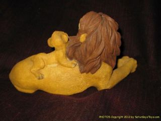 1995 Sandra Brue Lion King Signed Figurine Simba Mufasa in Orig Box Walt Disney