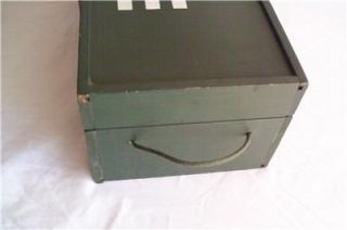 Vintage 1960s G I Joe Wood Wooden Foot Locker Trunk with Tray