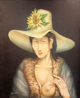 "Jorge Barreiro ""La Dama Del Salon"" Woman Portrait"