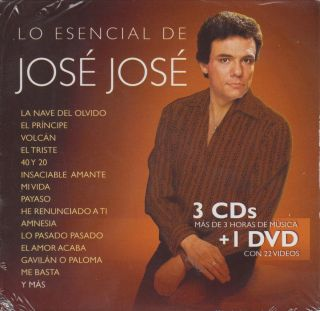 Lo Esencial De Jose Jose 3 CD NEW DVD Gavilan O Paloma Y Mas 60 Songs