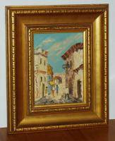 Small 1960's Israel Impressionist Oil Painting by Tea Sternklar New York Artist