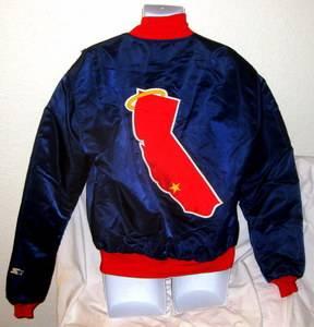 California Angels Early 1980s Starter Jacket XLarge Reggie Jackson Wally Joyner