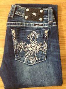 "Miss Me Womens Jeans JP5494B ""Feathered Cross"""