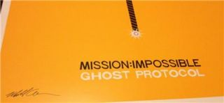 Mission Impossible 4 Ghost Protocol Original Rolled Mint Movie Poster Tom Cruise