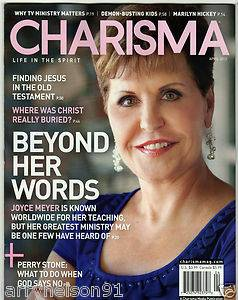 Charisma April 2012 Joyce Meyer Finding Jesus Old Testament Marilyn Hickey God