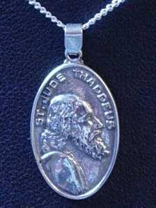 0507 Silver Saint Jude Thaddeus Pendant Charm Jewelry