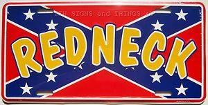 Redneck Rebel Flag License Plate Wild Country Boy Sign