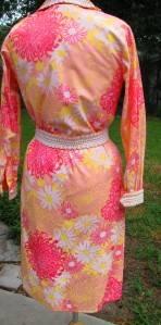 Vtg The Lilly Pulitzer Pink Big Trim Shirt Dress s M