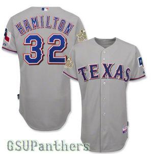 Josh Hamilton Authentic 2011 Texas Rangers World Series Road Jersey SZ 40 52