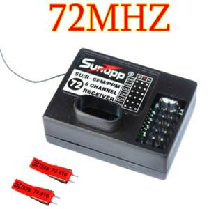 FM 72MHz 6CH RC Radio Receiver Crystals for Futaba Jr