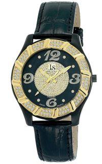Joshua Sons JS 17 BK Swiss Quartz Diamond Strap Mens Watch