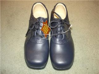 Josmo Navy Blue Leather School Uniform Shoes Oxfords Toddler Boys Size 11