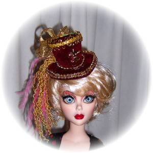 OOAK TOP HAT 5 For 16 17 fashion Dolls by Judy