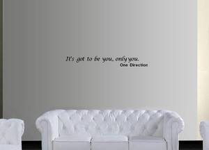 One Direction Wall Quote Sticker Girls Bedroom Wall Art It's got to Be You