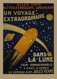 Jules Verne Rocket Ship Voyage Film Movie Large Vintage Poster Repro FREE S H