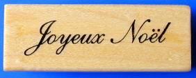JOYEUX Noel French Merry Christmas M Rubber Stamp 11