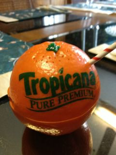 Vintage Tropicana Pure Premium Orange Juice Am FM Transistor Radio