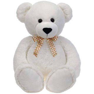 Jumbo Plush x Large Stuffed Animal White Bear 38 Tall